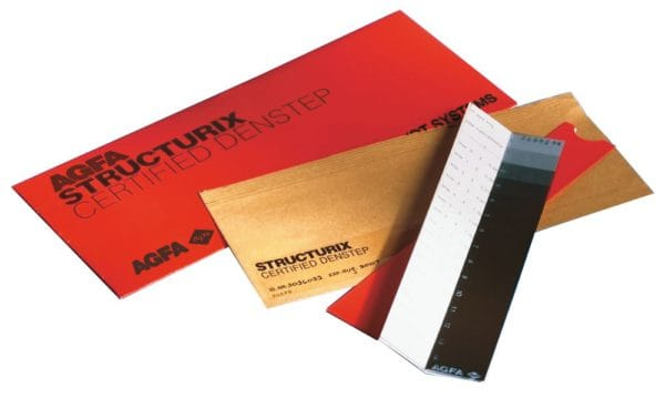 AGFA certified film density strip, 14 step