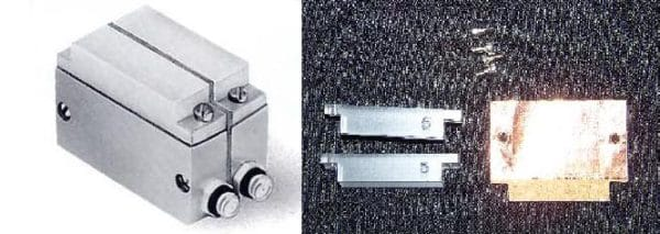 """Replacement delay, .5"""" x 1"""" with cross talk barrier and screws, for use with 5 MHz transducers"""