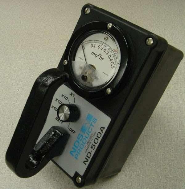 4 Range 0-500mR/hr gamma and x-ray survey meter