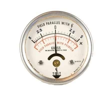 Model 25 certified pocket magnetometer,  /- 5 gauss