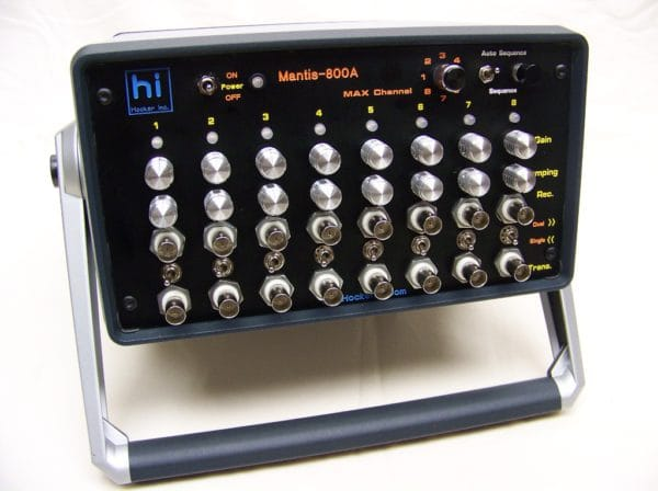 8 channel ultrasonic multiplexer with internal battery and charger